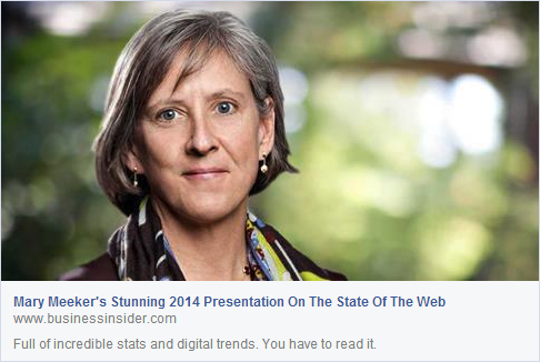 Mary Meeker's 2014 Internet Presentation - Business Insider